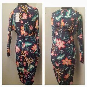 Zara Floral long sleeve dress